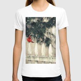 Snowy Day Cardinal T-shirt