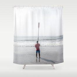 Raised Oar Shower Curtain