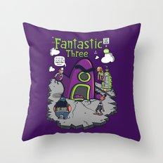 Fantastic Three Throw Pillow