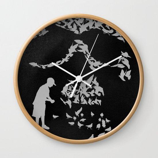 Pigeonholed Wall Clock