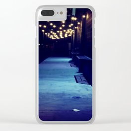 Night Lights Clear iPhone Case