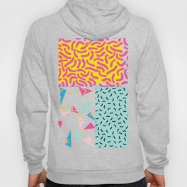 90's Pattern Funky Colors Hoody
