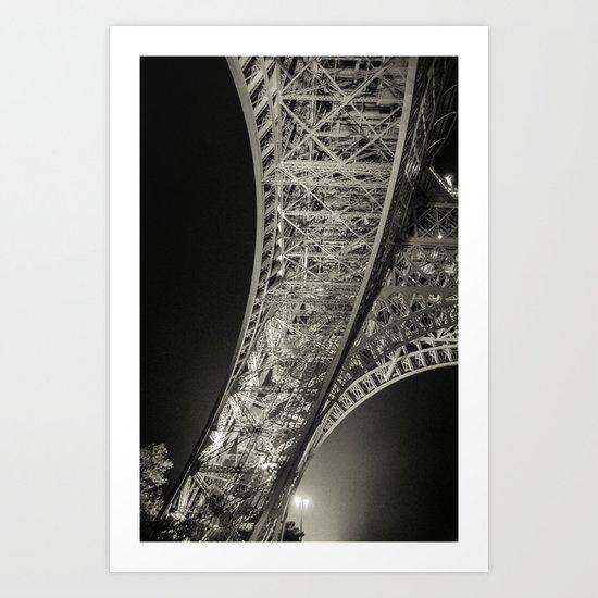 La Tour Eiffel de Nuit Art Print