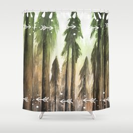 Ombre Forest Shower Curtain