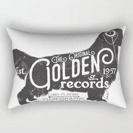 Golden Retriever Music Records Album Art Dog Audiophile Rectangular Pillow