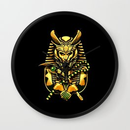 Loki King Of Egypt Wall Clock