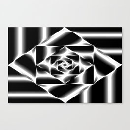 Geometric abstract black and white. Canvas Print