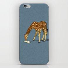 Reading Giraffe iPhone & iPod Skin