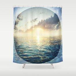 Bright Blue Horizons Shower Curtain