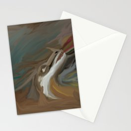 Dragon in the sand Stationery Cards