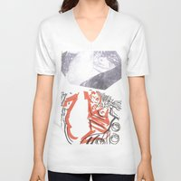 klimt V-neck T-shirts featuring Homage to Klimt by PerClaudia