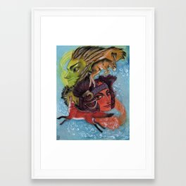 East Wind and West Wind Framed Art Print