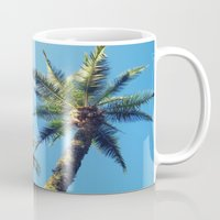 palm trees Mugs featuring Palm Trees by Jillian Stanton