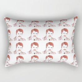 "Ron Swanson ""Diptych"" Rectangular Pillow"