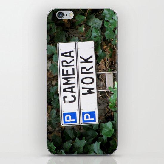 Camera work iPhone & iPod Skin