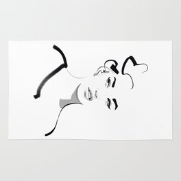 Face disgusted Fashion Illustration Version Rug