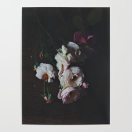 English Roses Still Life - Dark Number Two Poster