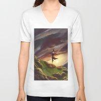 studio ghibli V-neck T-shirts featuring Studio Ghibli - Howl's Moving Castle by BBANDITT