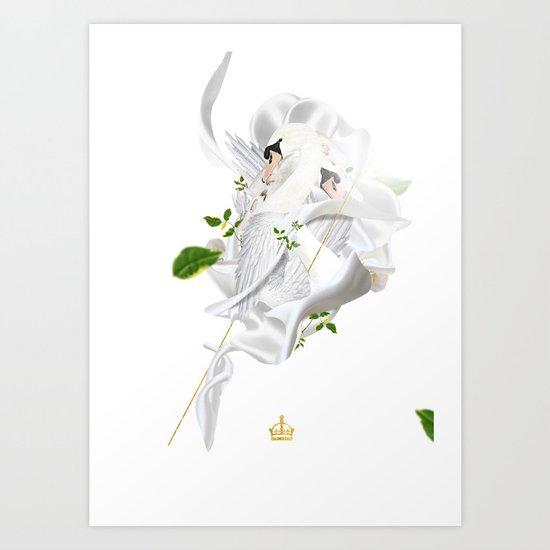 Royal Swan Art Print