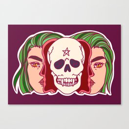 Being split down the middle might make you green Canvas Print