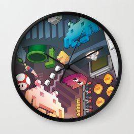 Lost in videogames Wall Clock