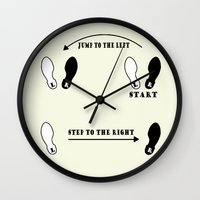 rocky horror picture show Wall Clocks featuring TIME WARP DANCE STEPS Rocky horror picture show by KickPunch
