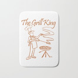 The Grill King Funny Chef Cook Grilling BBQ Meat Bath Mat