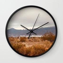 Vivid Cloudy Mountains Wall Clock