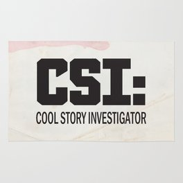 CSI: Cool Story Investigator Rug
