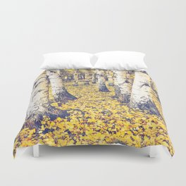Golden Floor Duvet Cover