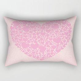 Rose Hearts Rectangular Pillow