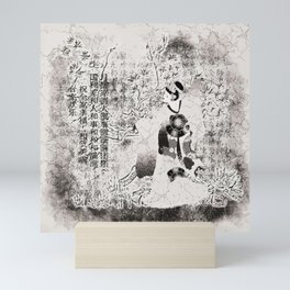 Tanzende Geisha Mini Art Print