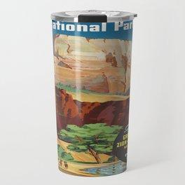 Vintage poster - Zion National Park Travel Mug