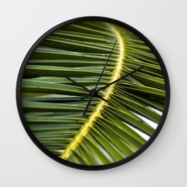Green Palm-Leafes of Sicily Wall Clock