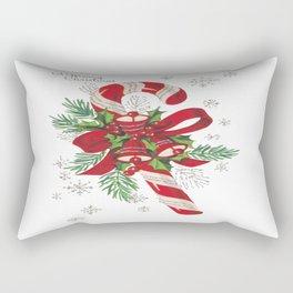 Vintage Merry Christmas Candy Cane Rectangular Pillow
