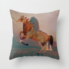 Horse with Horse Throw Pillow
