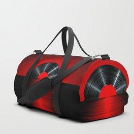 Vinyl sunset red Duffle Bag