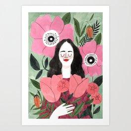 Among Flowers Art Print