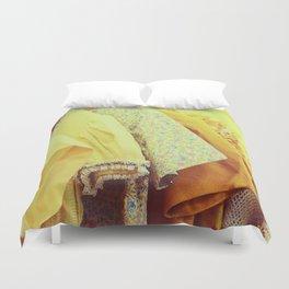 Yellow Dresses Duvet Cover
