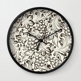 Vine seamless background Wall Clock