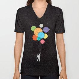 Planet Balloons Unisex V-Neck