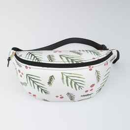 Christmas tree branches and berries - vintage Fanny Pack