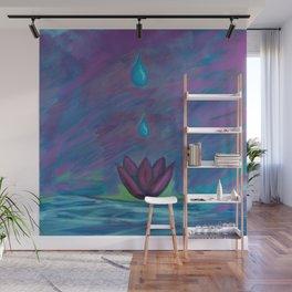 Lotus Droplet Wall Mural