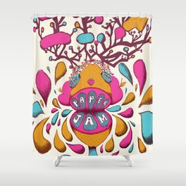 Paper Jam Poster Shower Curtain