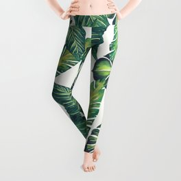 Jungle Leaves, Banana, Monstera II #society6 Leggings