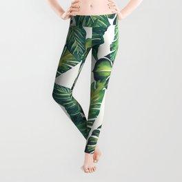 Jungle Leaves, Banana, Monstera II #society6 Leggings