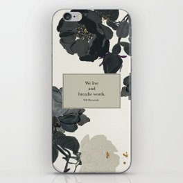 We live and breathe words. Will Herondale. Clockwork Prince. iPhone Skin