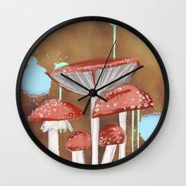 Bronze Mushrooms Wall Clock