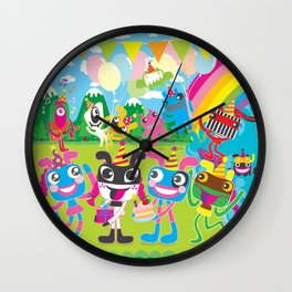 """Happy Birthday"" Plushism land Celebration!!! Wall Clock"