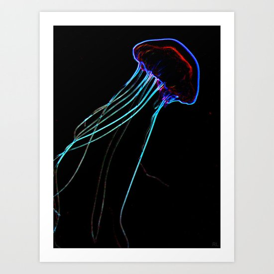 Flow In The Dark II Art Print